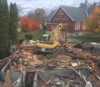 Finishing Nunnery demolition in Bath, Maine